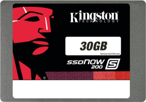 "Диск SSD Kingston SSDNow S200 30 GB 2,5"" SATA3 SS200S3/3QG"