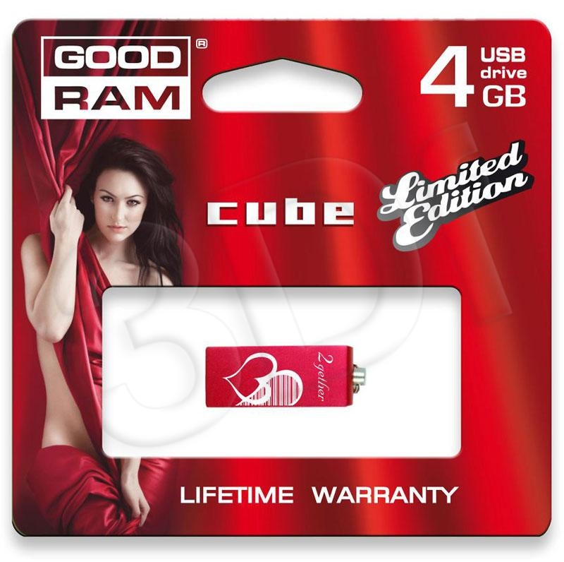 USB Flash Drive 4 Gb GOODDRIVE CUBE VALENTINE USB 2.0